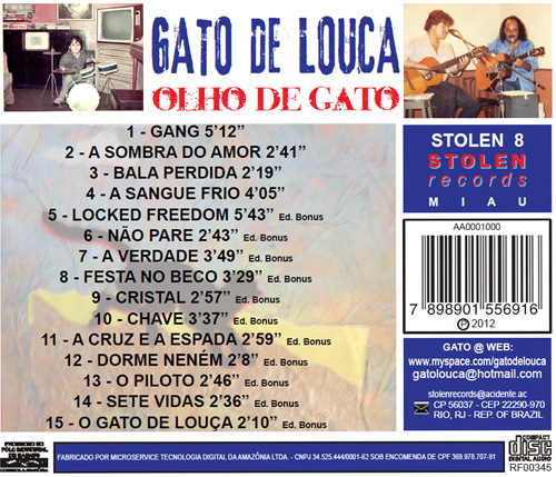 Contracapa do CD Olho de