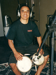 "Reppolho on percussion in ""1990"""