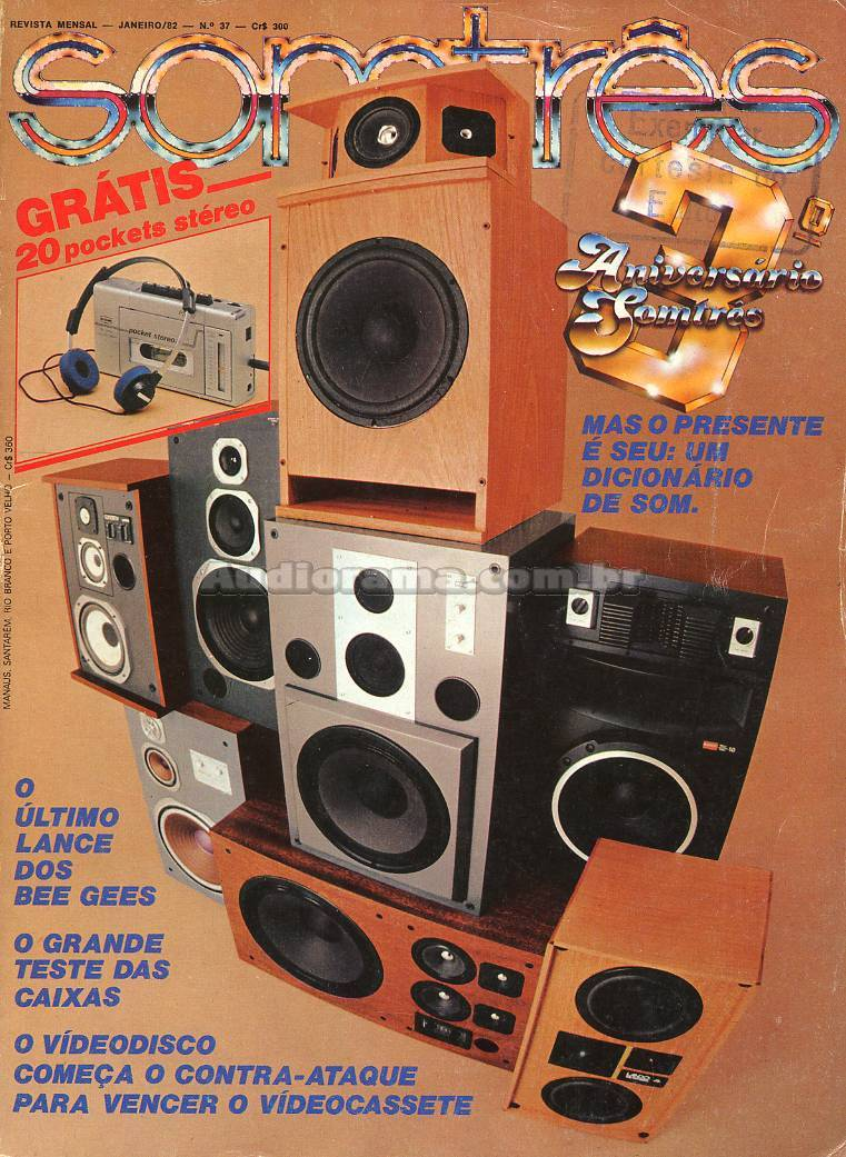 Som Três Magazine #37, January 1982